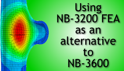 Using NB-3200 FEA As An Option To Stress Equations In NB-3600