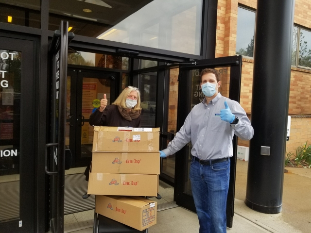 Masks donation to the Atlantic Health System - Foundation for Morristown Medical